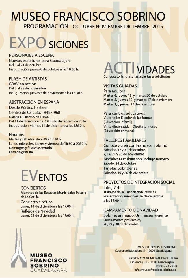 Programación Museo F. Sobrino Oct.Nov-01